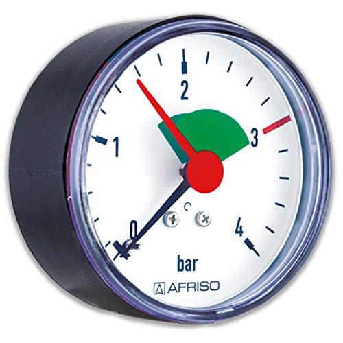 Rohrfeder-Manometer für Heizung/Sanitär - Axial, Afriso, Ø63mm, DN8 (1/4