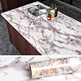 VEELIKE Grey Marble Contact Paper Counter Top Covers Peel and Stick Wallpaper Granite Wall Paper Kitchen Wall Covering Self Adhesive Vinyl Waterproof Removable Wallpaper for Cabinet Locker 15.8'x118'