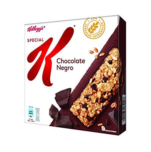 Kellogg's Barritas Special K Chocolate - Barritas de cereales de copos de trigo integral y cereales con trocitos y base de chocolate - Paquete de 6 barritas x 21.5g