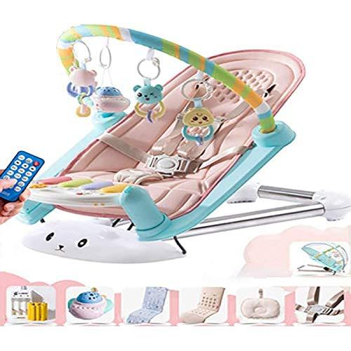 Mecedora para Bebé con Pedal Hamaca para Columpio Eléctrica Hamaca Y Hamaca para Bebé Recién Nacido con Canciones Y Sonidos