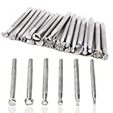 26 Pcs Leather Stamping Tools Set Different Shape Saddle Making Tools Carving Punch Tools for Leather Craft