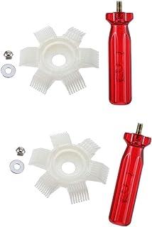 FLAMEER 2 Ajuste Los Accesorios 6 En 1 para La Camilla De Peine De Aletas De Plástico del Radiador para Aire Acondicionado