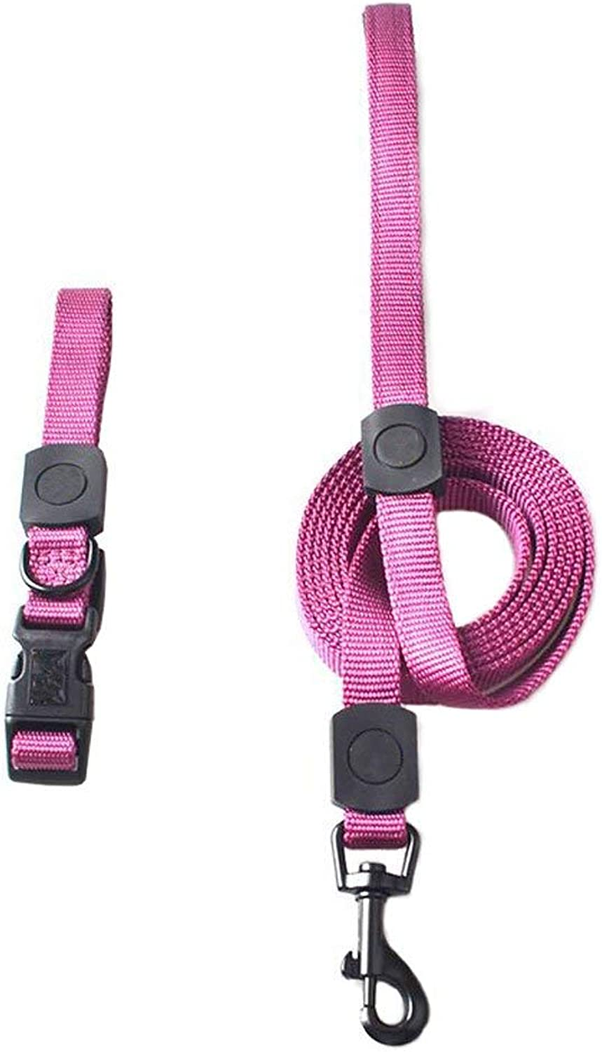 Dog Chain, Dog Leash Pet Chain Nylon Weave Outdoor Running Training Fashion Soft Comfortable Durable Multi color Optional (bluee Brown Green orange Pink Purple) (color   bluee, Size   S)