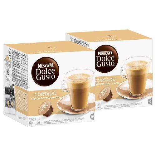 Nescafé Dolce Gusto Cortado Espresso Macchiato, Kaffee, Kaffeekapsel, 2er Pack, 2 x 16 Kapseln