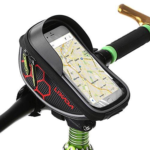 Lixada Lenkertaschen für Fahrrad Lenker Tasche Touchscreen Zelle Telefon Halterung MTB Straße Fahrrad Frontrahmen Tasche