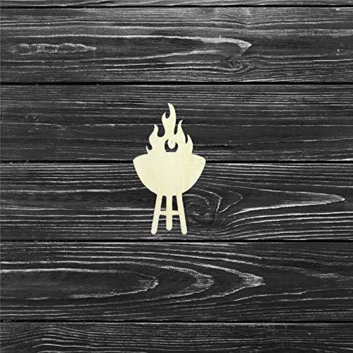 BYRON HOYLE Artesanía de madera de barbacoa, arte de madera sin terminar,...