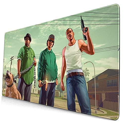 yeeasssyi Grand Theft Auto San Andreas Splash Alfombrilla de escritorio con base de goma antideslizante, bordes cosidos anti-deshilachado para la oficina, el hogar y los accesorios de la computadora