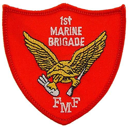 United States Marine Corps USMC, 1st Marine Brigade FMF Patch, with Iron-On Adhesive (Marine Corps Unit Patches)
