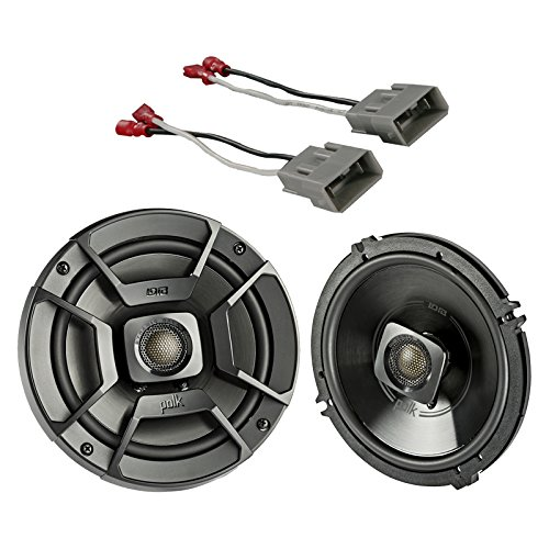 Polk 2X Audio 6.5' 300W 2 Way Car/Marine ATV Stereo Coaxial Speakers, 2X Metra 72-7800 Speaker Connector Harnesses for Select 1991-up Honda and Acura Vehicles