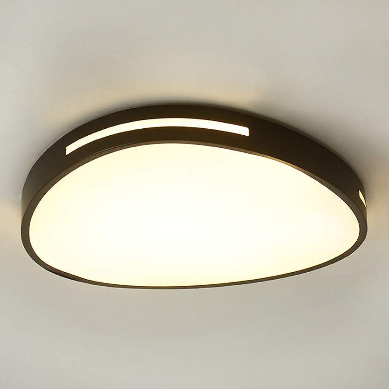 WENYAO 24W Led Dimmbare Deckenleuchte Unterputz Moderne Deckenleuchten aus Eisen Leuchte Esszimmer Wohnzimmer Schlafzimmer (Farbe  Schwarz-Stufenlos dimmen, Gre  S-24W)
