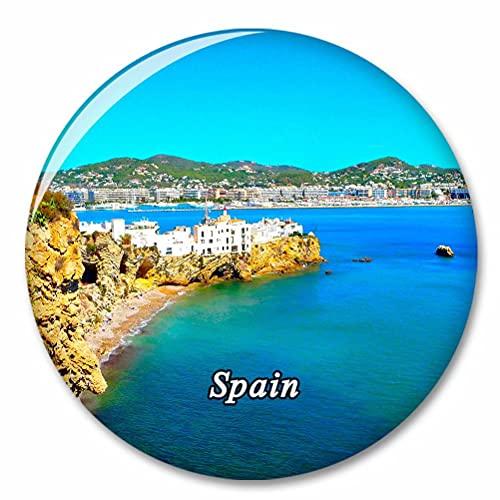España Isla de Ibiza Imán de Nevera, imánes Decorativo, abridor de Botellas, Ciudad turística, Viaje, colección de Recuerdos, Regalo, Pegatina Fuerte para Nevera