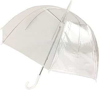"(6 Pack) 46"" Clear Bubble Umbrella Manual Open Fashion Dome Shaped European Hook Handle"