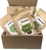 Energizing Herbal Tea Set 5 bolsitas con cierre hermético y protector de aroma de 50 gr. Ideal para quienes se sienten impotentes y quieren recargar las pilas. Tisantea