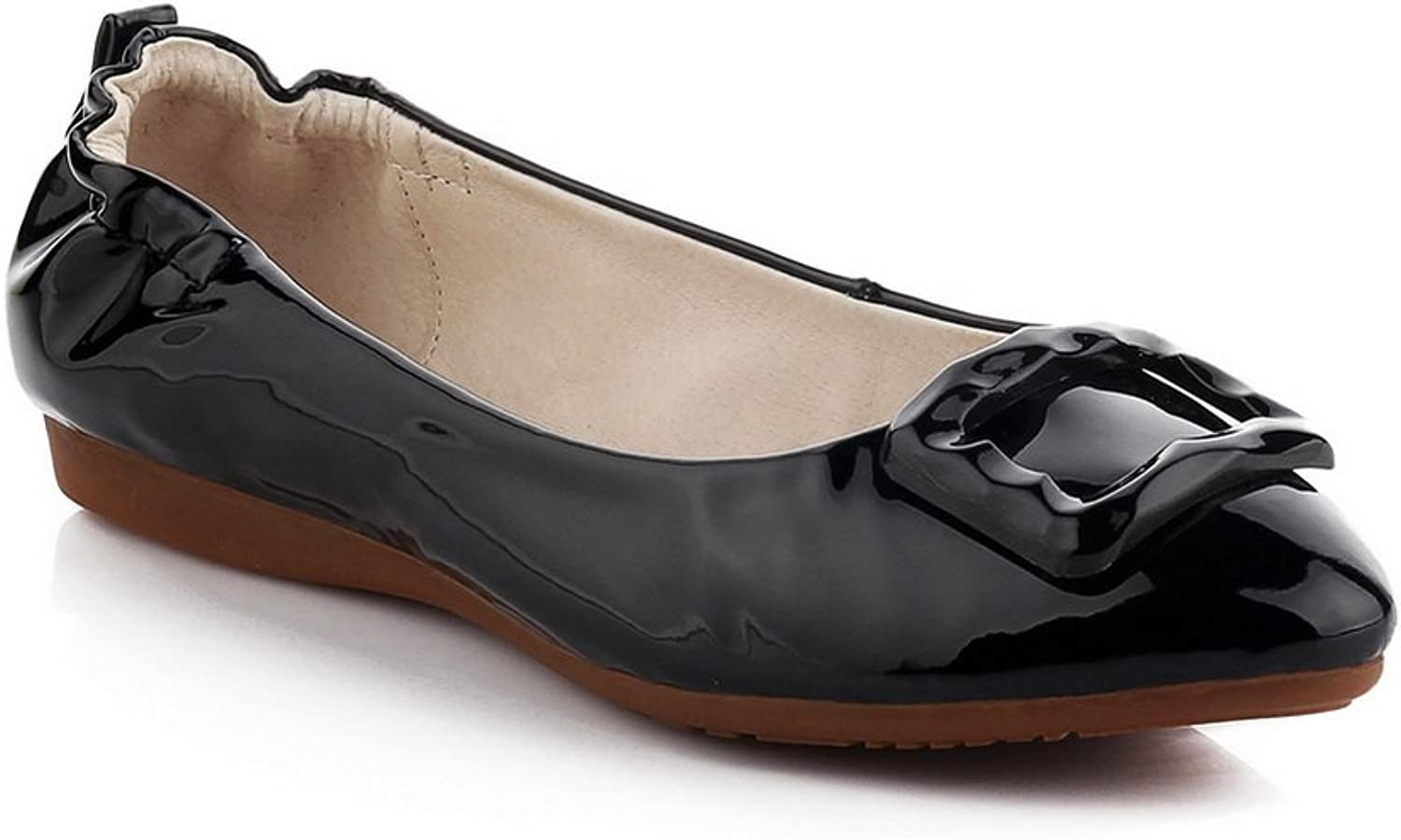 1TO9 Womens Wedges Low-Cut Uppers Patent-Leather Ballet Flats MMS03096