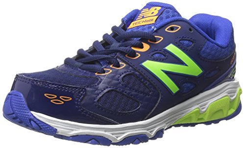 New Balance New Balance KR680 Youth Run Running Shoe (Little Kid/Big Kid), Blue/Green, 28 M EU
