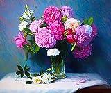 Rompecabezas 1000 piezas de rompecabezas de madera Rompecabezas de madera para adultos clásicos Arreglo floral rosa Regalos de cumpleaños para niños y niñas