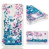 Jieheng Huawei Honor 5C Hülle, Glitzer Bling Bumper Liquid TPU Case Cover 3D Flüssig Treibsand Transparent Silikon Handyhüllen für Handy Hüllen für Huawei Honor 5C