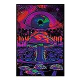Posters Setas mágicas Ojo Fantasía Mente Decoración en Lienzo Carteles Pintura Obras de Arte de Pared Imágenes Sala de Estar Oficina Dormitorio Decoración-50x70cm Sin Marco