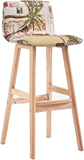 Barstools Bar Stool High Stool Japanese-Style Wooden Stool Country Simple Front Desk Chair HUYP (Color : C)