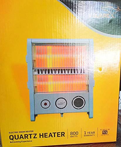 V-Guard Electric Quartz Room Heater (RH2QT-1000, Grey, 800-Watt)