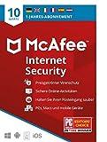 McAfee Internet Security 2021   10 Geräte   1 Jahr   Antivirus Software, Virenschutz-Programm,...