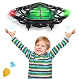 CPSYUB Hand Operated Mini Drone, Toys for Boys Age 6, Hands Free Kids Drone Toys for Age 4, 5, 6, 7, 8, 9, 10, 11, 12 Boys / Girls, Easy Flying Ball Drone for Kids Toys Gifts (Black)