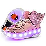 Light Up Shoes LED Roller Skate Shoes Wheels Boys Girls Sneakers Become Slip On Kids Sneakers for Children Gift
