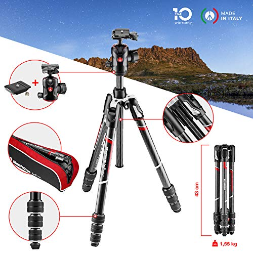 Manfrotto befree GT Carbon – Trípode de Viaje Kit Twist