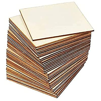 Unfinished Wood Pieces for DIY Crafts (4 x 4 In, 36 Pack)