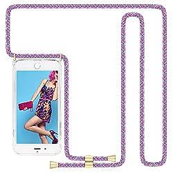 Imikoko Hülle für iPhone 7/iPhone 8/iPhone SE(2020) Necklace Hülle mit Kordel zum Umhängen Silikon Handy Schutzhülle mit Band - Schnur mit Case zum umhängen