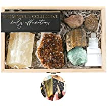 Healing Crystals Set with Daily Affirmation Cards - Manifestation Crystals and Stones. Authentic Gemstones and Crystals Sets for Beginners. Chakra Stones and Energy Crystals for Witchcraft Supplies
