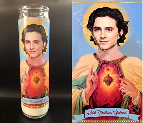 Mose Mary and Me Timothée Chalamet Devotional Prayer Saint Candle