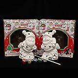 Sigma - Muñeco de Papá Noel o muñeco de nieve de cerámica (DIY), color blanco 105 x 7 x 15 cm LED cambio de color en el set.