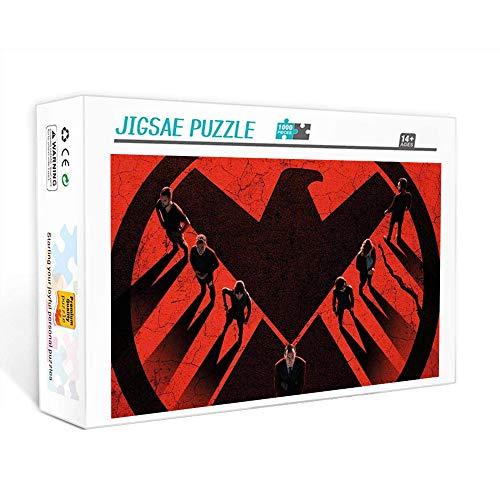 Puzzle de 1000 piezas para adultos Agente de SHIELD: póster del personaje de la película Puzzles Brain Challenge Puzzle para niños   Puzle imposible 75x50cm