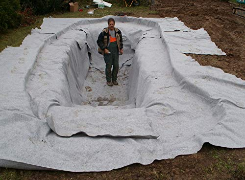 15 m² Teichvlies 1000g/m² Rolle 2 x 7,50 Meter Schutzvlies Folienschutz für Teichfolie Vlies