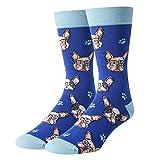 SOCKFUNNovelty FunnyGifts for Dog LoversEnglishFrench Bulldog Gifts French Bulldog Socks Men, Dog GiftsCrazyDog Socks