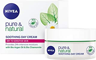 NIVEA Pure & Natural Soothing Day Cream, 50ml