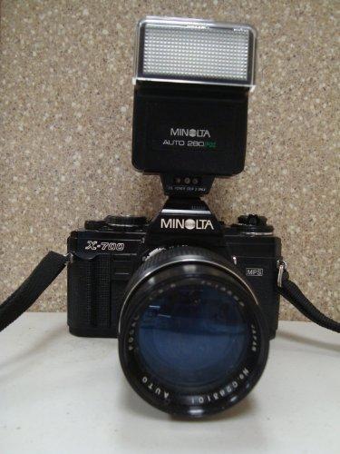 MINOLTA X700 35 MM CAMERA WITH FLASH