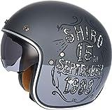 Shiro CASCO SH-235 BORN GRIS MATE (XL)