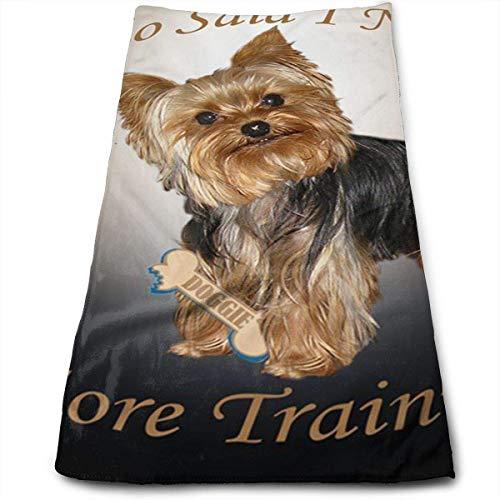 Tyueu Perro necesita entrenamiento 100% algodón, resistente a la decoloración, altamente absorbente, lavable a máquina, calidad del hotel, toalla suave y absorbente