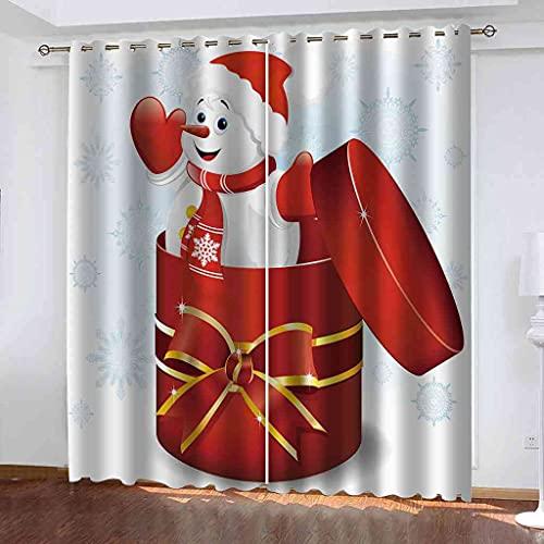 TDYGFC Tende Oscuranti Termiche Isolanti Regalo di natale rosso 200x180 cm ad Anello in Acciaio Inossidabile Steel per Casa Moderne Interni Tende Oscuranti per Finestre, 2 Pannelli