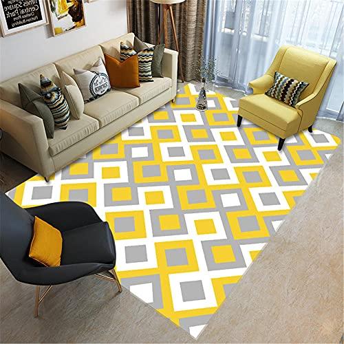 WCCCW Bianco Bianco Geometrico Geometrico Geometrico Pattern Casual Casual Accessori Casual Corridoio da Comodino Comodino comodino-60x90cm. Antiscivolo Lavabili Ornamenti alla Moda Pastello