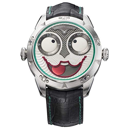 Amazeng Reloj de Payaso Ruso más de 20.000 Tipos de Cambios de expresión para Hombre Reloj mecánico automático de Moda multifunción Tarjetas Joker Reloj
