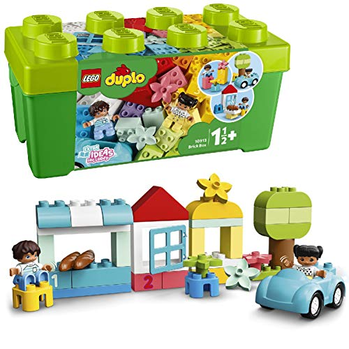 LEGO 10913 DUPLO Classic Brick Box Building Set with Storage, First Bricks Learning Toy for Toddlers 1.5 Year Old