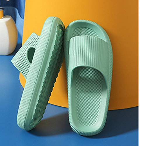 XZDNYDHGX Mens Flip Flops Rubber Thong Sandals,Female Summer Home Bathroom Bath Slippers, Couple Thick-Soled Outdoor Men's Sandals For Summer Green EU 35-36