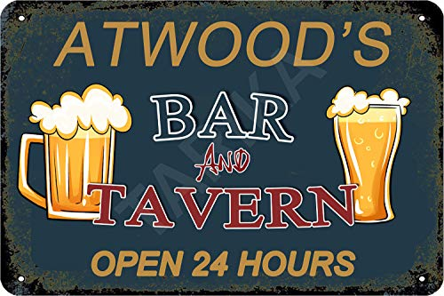 Tarika Atwood's Bar and Tavern Open 24 Hour Cartel de Hierro Pintura...
