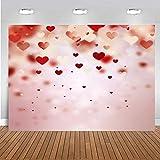 Fondo de San Valentín Bokeh Sweety Heart Fondo para fotografía Día de San Valentín Postre Pastel Decoración de Mesa para Photo Booth 8x6ft 090