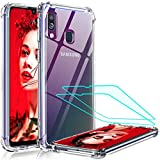 LeYiforSamsung Galaxy A40 Case with Tempered Glass