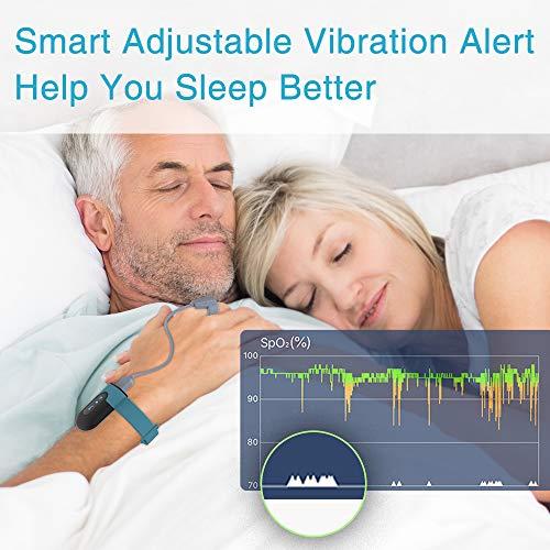 Sauerstoffsättigungs-Monitor, am Handgelenk tragbarer Sauerstoffmonitor, Überwachung des Sauerstoffpegels im Schlaf mit Vibrations-Feedback, Bluetooth Herzfrequenz Monitor - 4