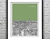 AZSTEEL Konstanz Germany Altstadt Poster Art City Skyline